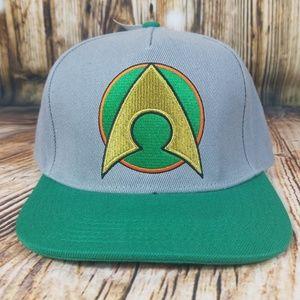 Aquaman DC Comics green and gray snapback hat